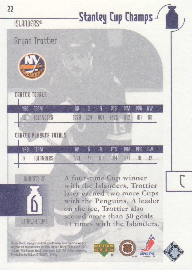 2001-02-UD-Stanley-Cup-Champs-Hockey-Cards-Pick-From-List miniature 9