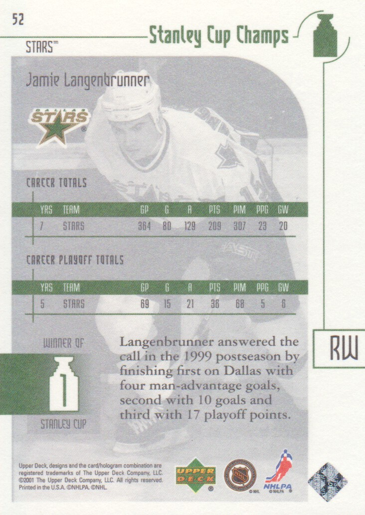 2001-02-UD-Stanley-Cup-Champs-Hockey-Cards-Pick-From-List miniature 17
