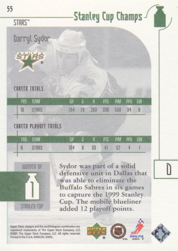 2001-02-UD-Stanley-Cup-Champs-Hockey-Cards-Pick-From-List miniature 19