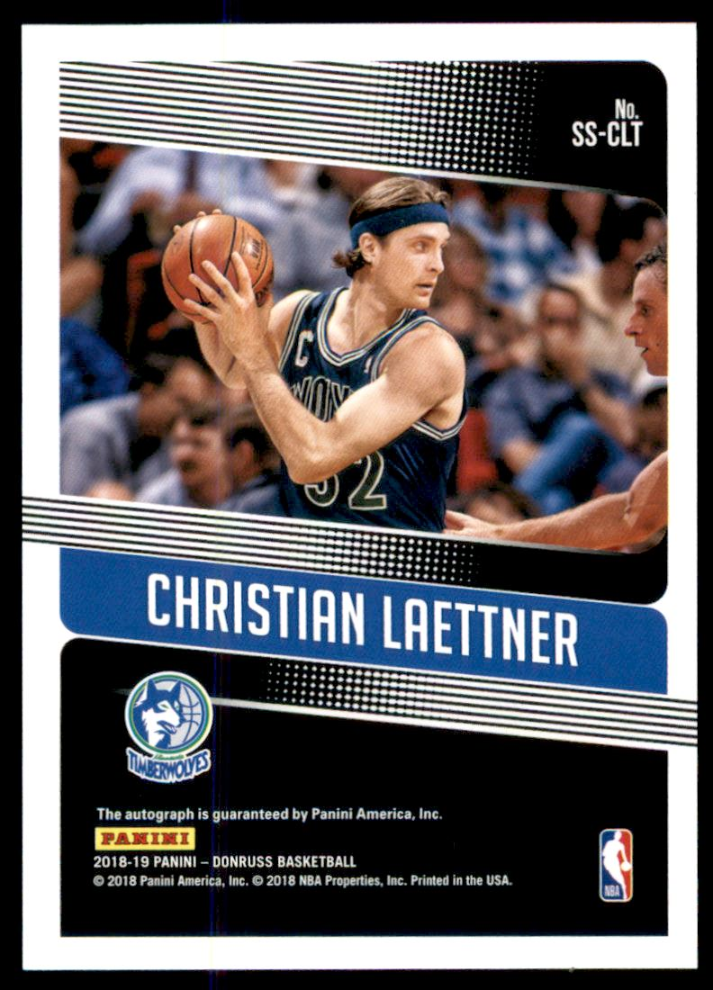 2018-19 Donruss Significant Signatures #3 Christian Laettner back image