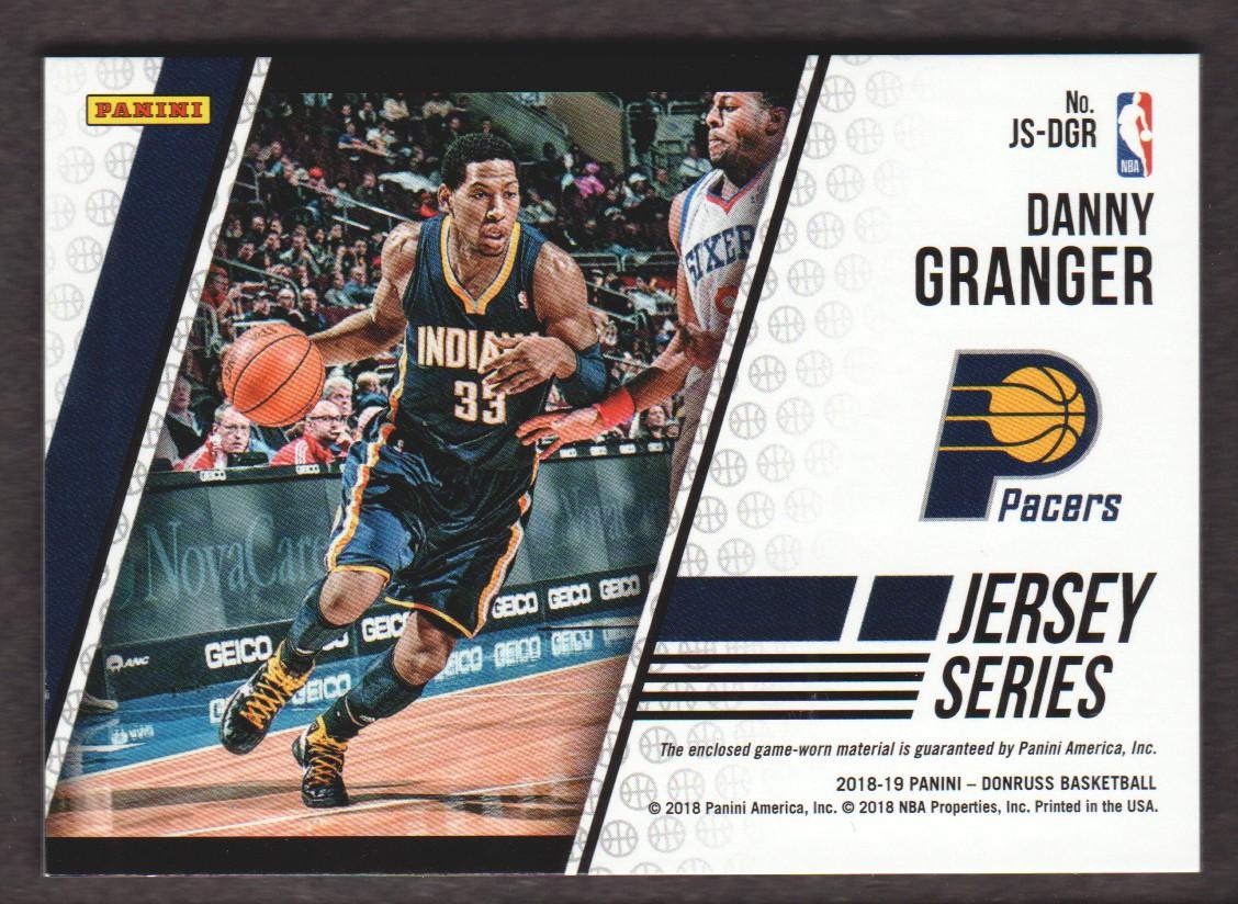 2018-19 Donruss Jersey Series #50 Danny Granger back image