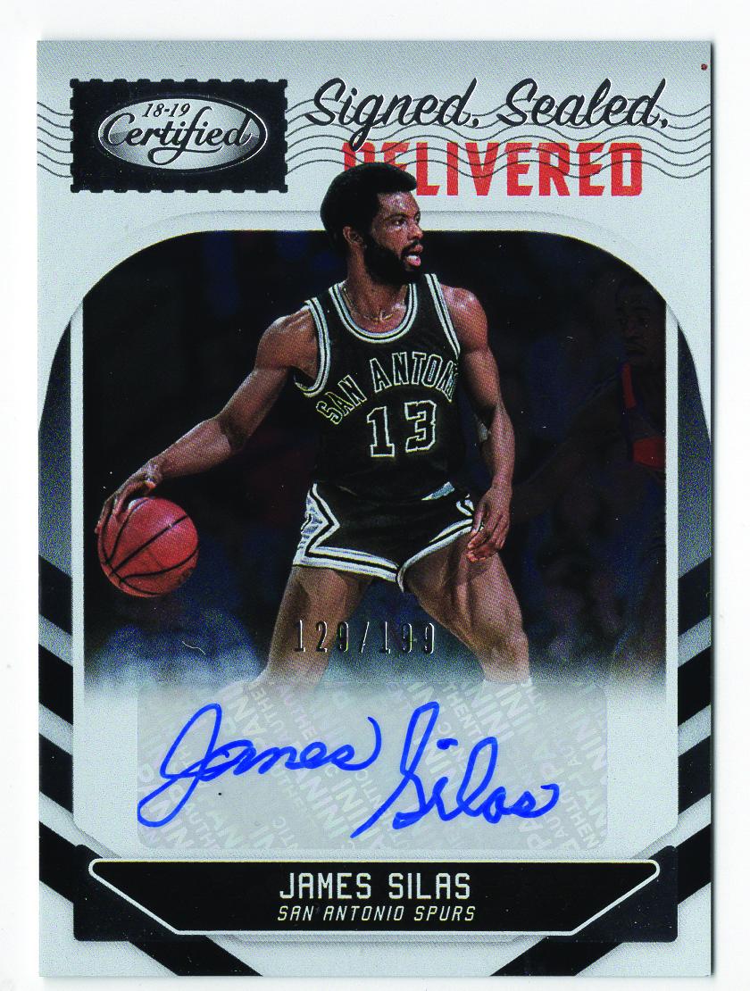 2018-19 Certified Signed Sealed Delivered Autographs #33 James Silas/199
