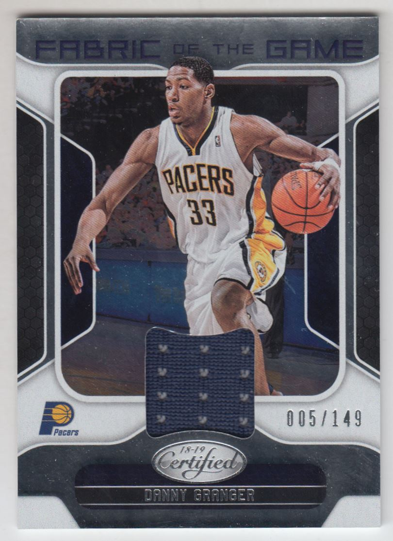 2018-19 Certified Fabric of the Game Relics #34 Danny Granger