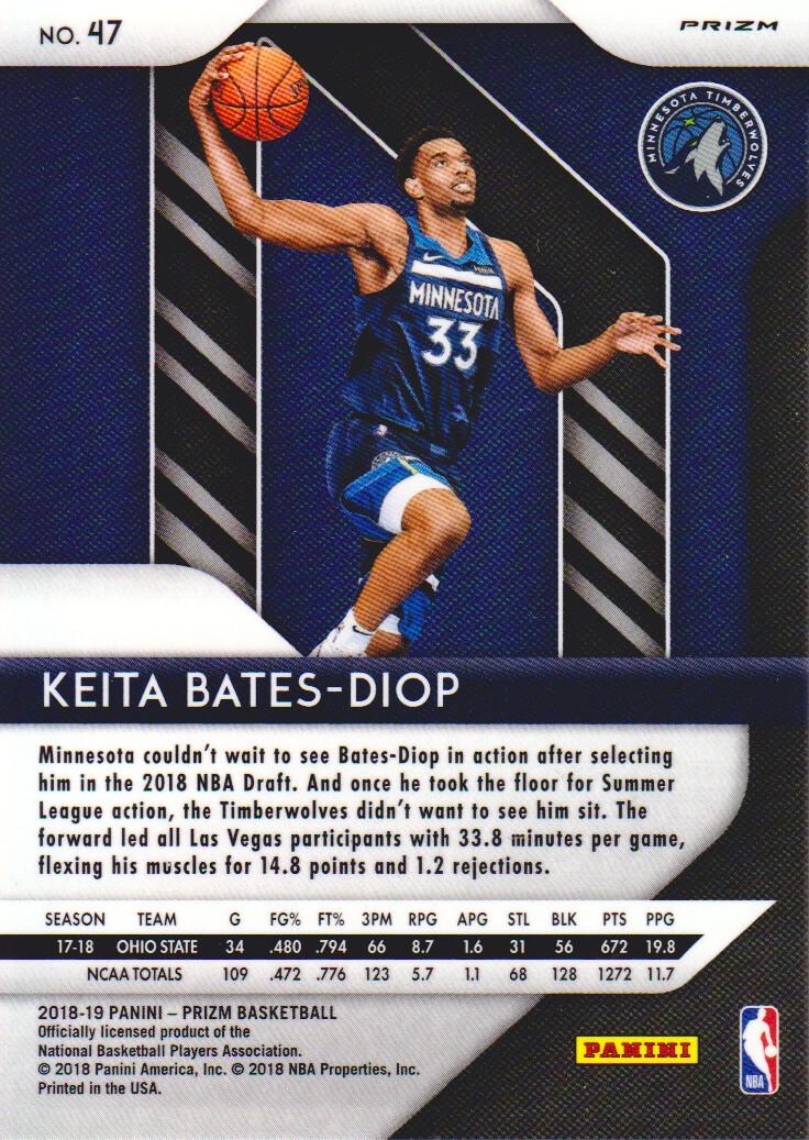 2018-19 Panini Prizm Prizms Hyper  47 Keita Bates-Diop Minnesota  Timberwolves 4ff4438b4