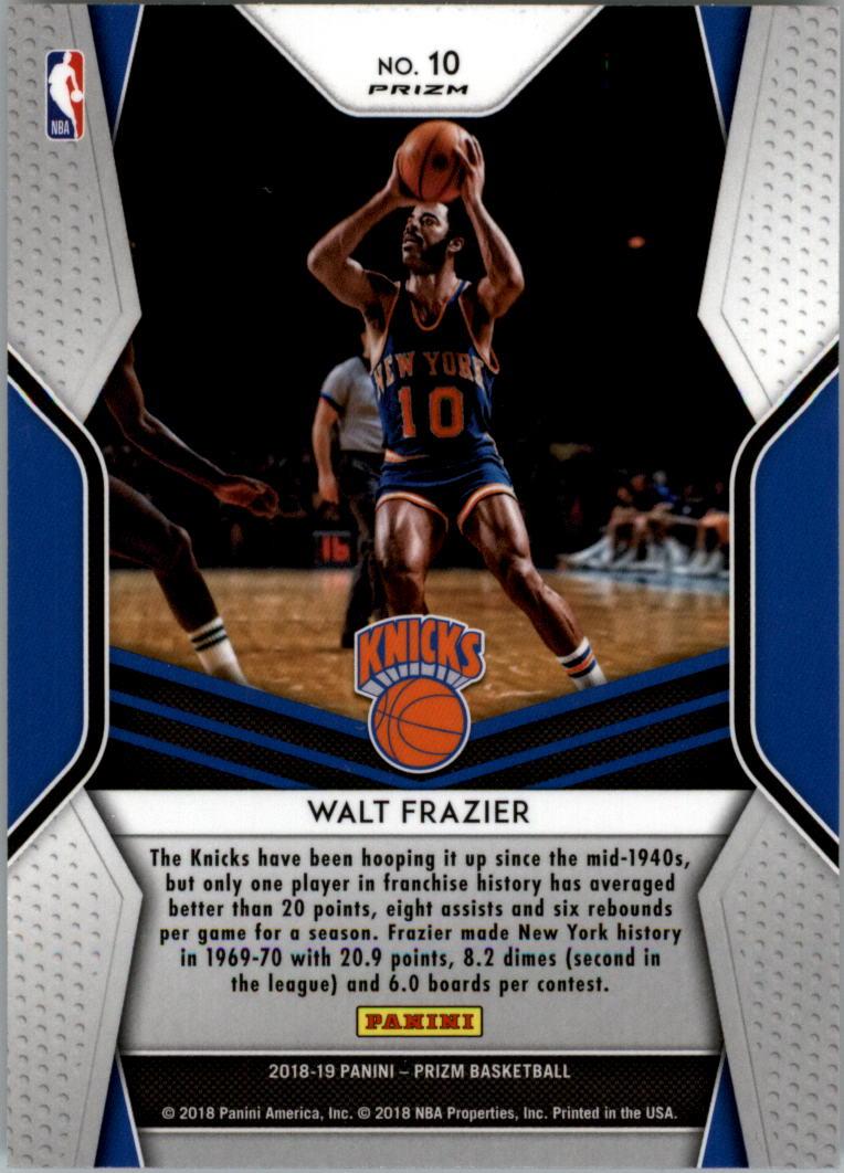 2018-19 Panini Prizm Dominance Prizms Silver #10 Walt Frazier back image