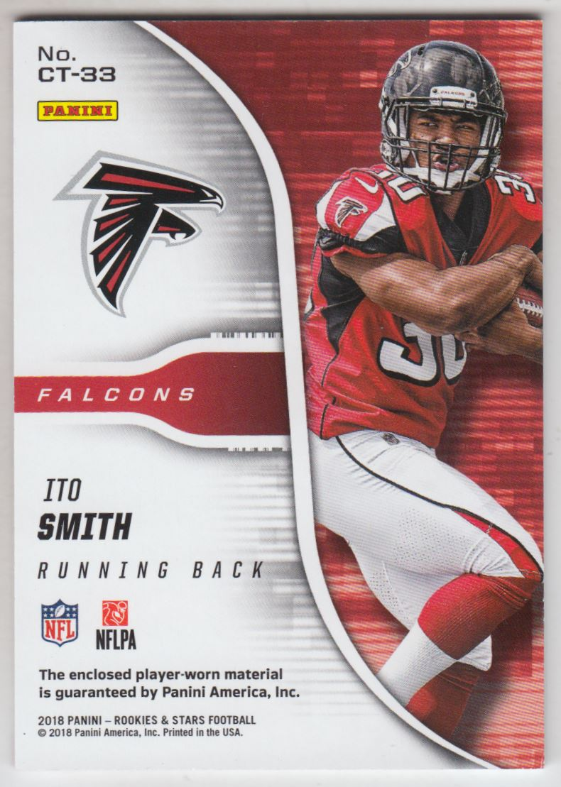 2018 Rookies and Stars Cross Training Jerseys  33 Ito Smith Jersey  99.  Front. Back 712708cb5