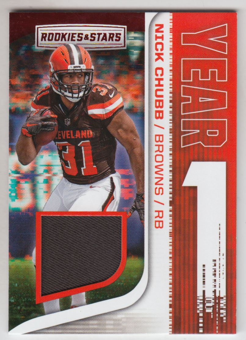 2018 Rookies and Stars Year One Jerseys  13 Nick Chubb 7aa94255b
