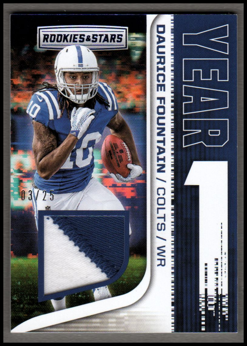 newest fbf98 3ed11 2018 Rookies and Stars Year One Jerseys Prime #37 Daurice ...