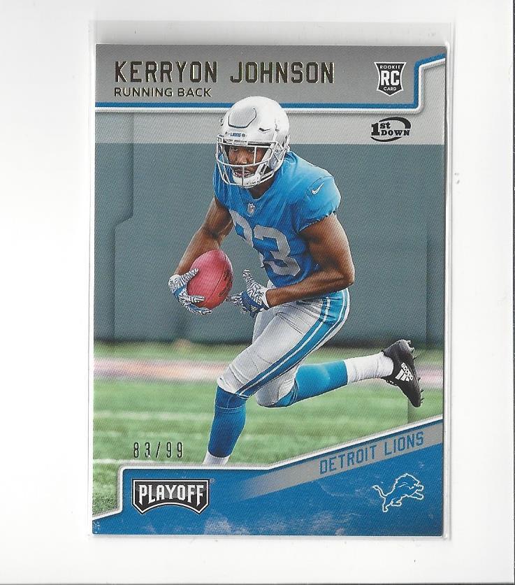 Amerikaans voetbal Verzamelkaarten, ruilkaarten 2018 Panini Classics Optichrome Premium Edition 217 Rookies Kerryon Johnson Card