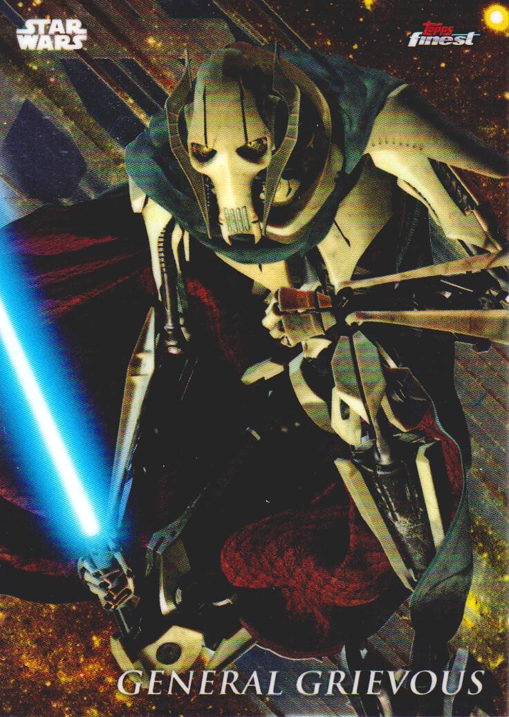Star Wars Finest 2018 Refractor Base Card #37 General Grievous