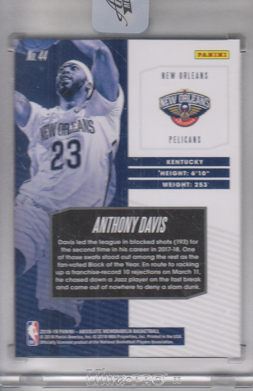 2018-19 Absolute Memorabilia #44 Anthony Davis back image