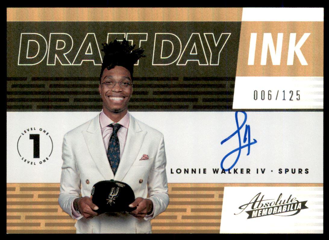 2018-19 Absolute Memorabilia Draft Day Ink #18 Lonnie Walker IV