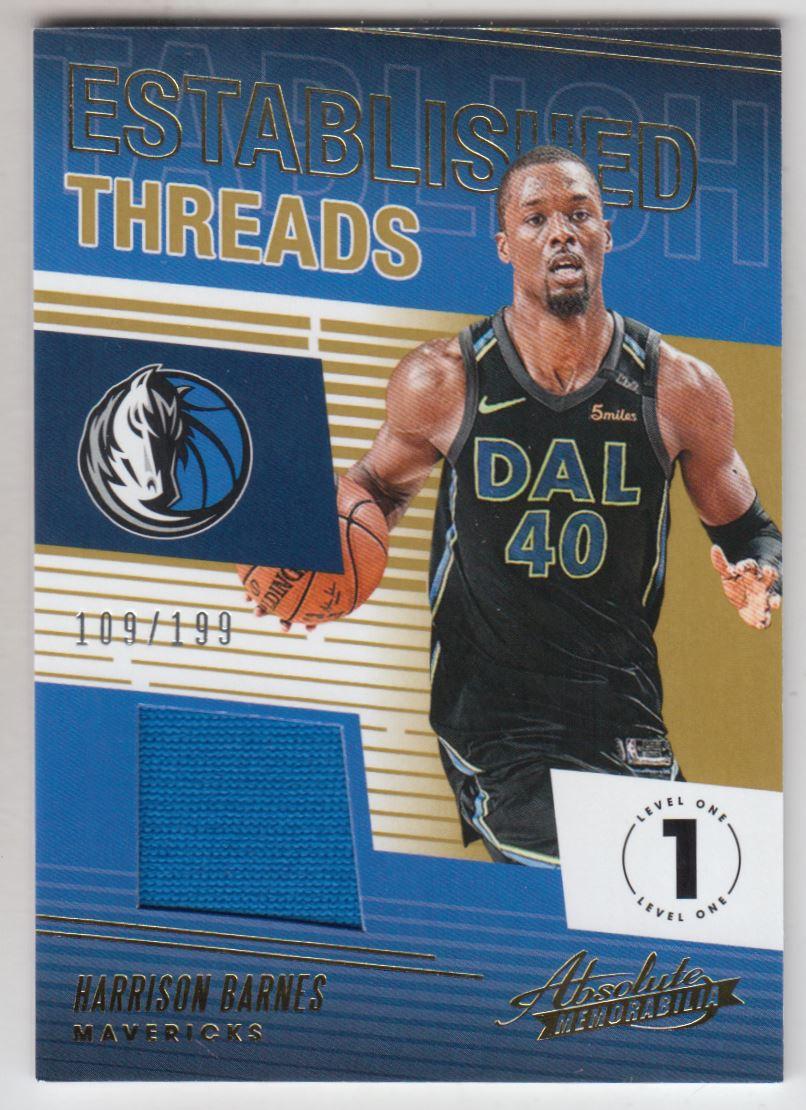 2018-19 Absolute Memorabilia Established Threads #14 Harrison Barnes/199