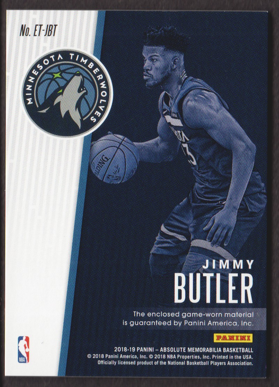 2018-19 Absolute Memorabilia Established Threads #16 Jimmy Butler/199 back image