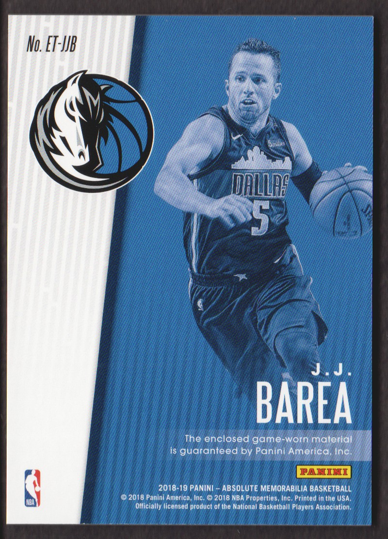 2018-19 Absolute Memorabilia Established Threads #18 J.J. Barea/199 back image