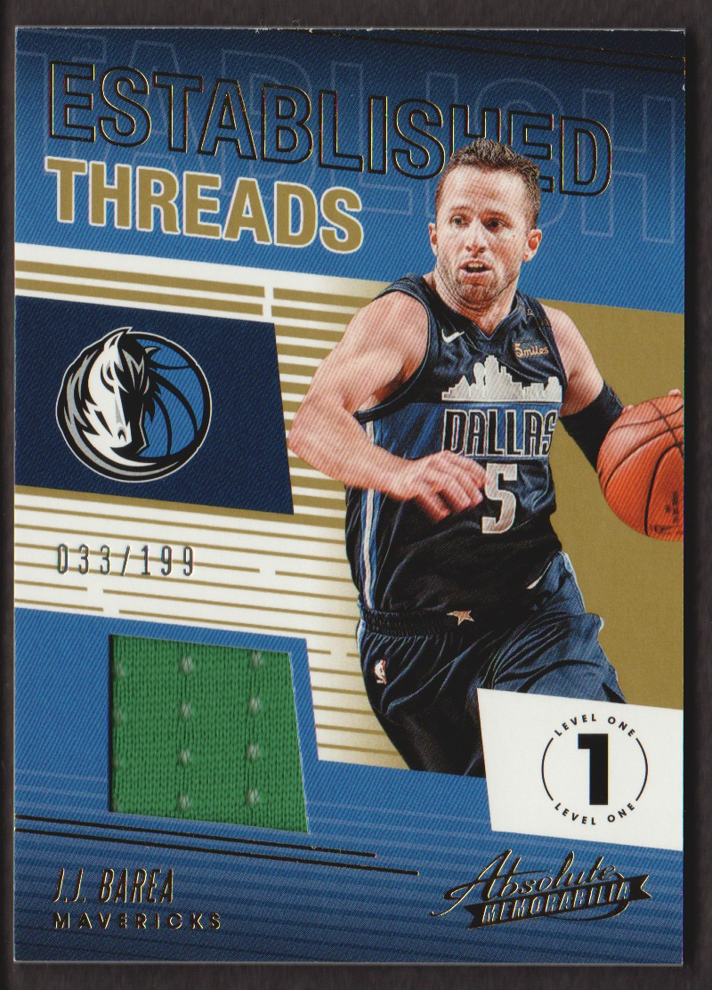 2018-19 Absolute Memorabilia Established Threads #18 J.J. Barea/199