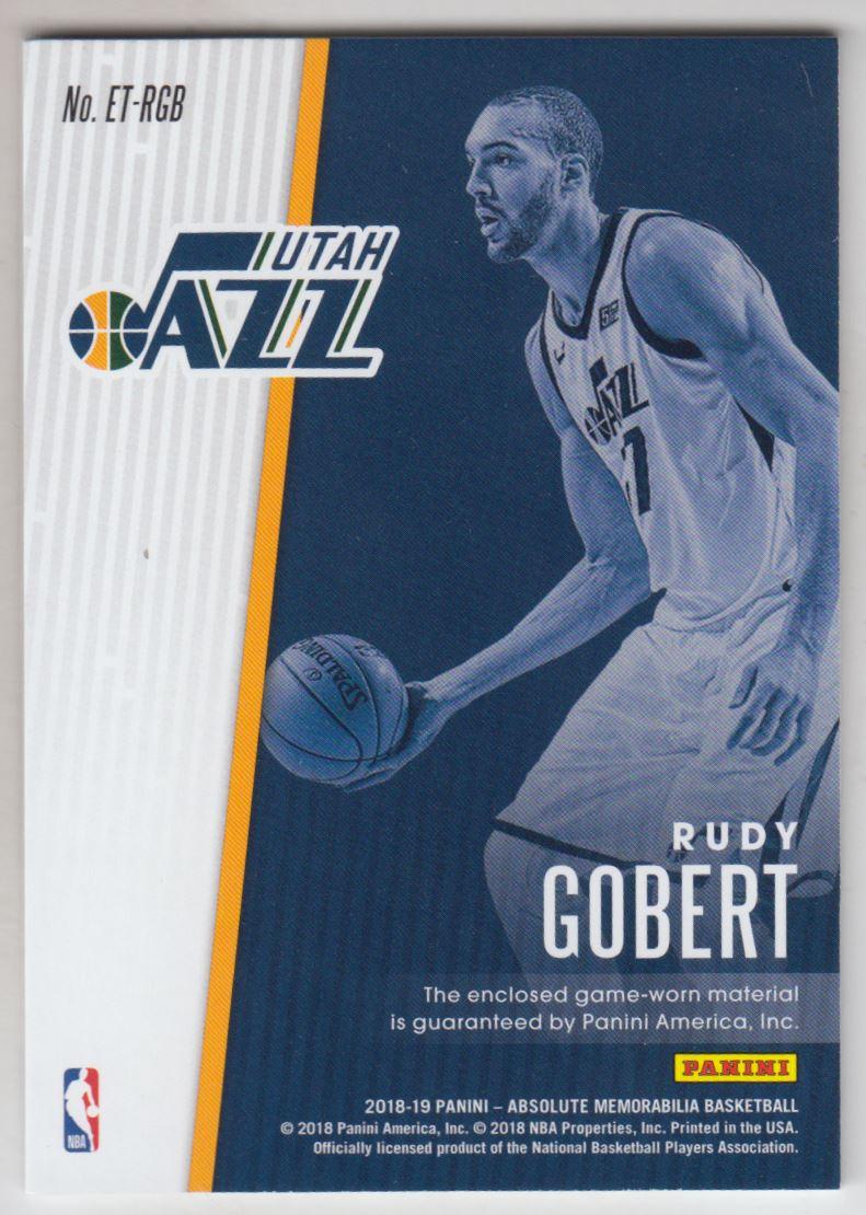 2018-19 Absolute Memorabilia Established Threads #20 Rudy Gobert/199 back image