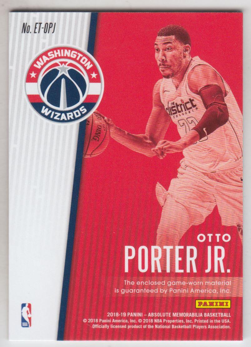 2018-19 Absolute Memorabilia Established Threads #48 Otto Porter Jr./199 back image