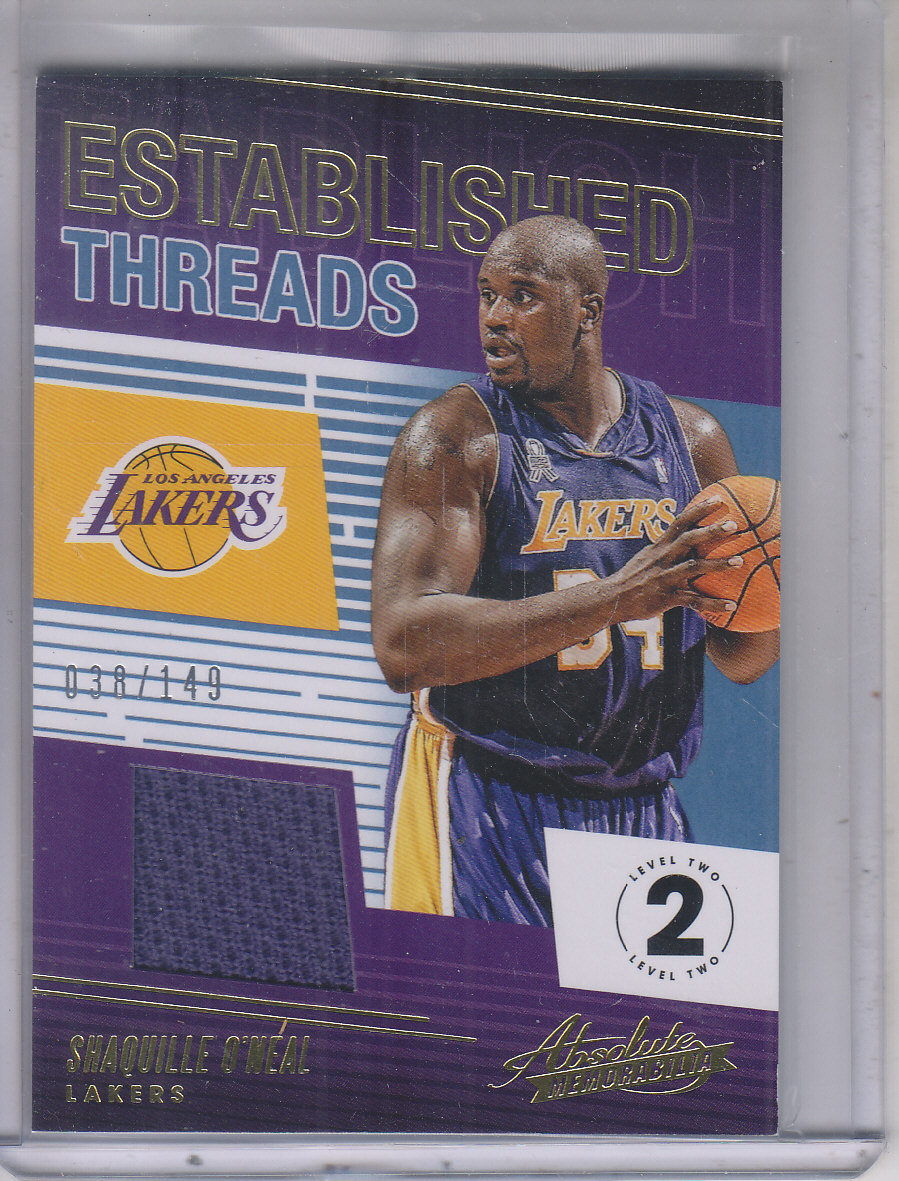 2018-19 Absolute Memorabilia Established Threads Level 2 #7 Shaquille O'Neal/149