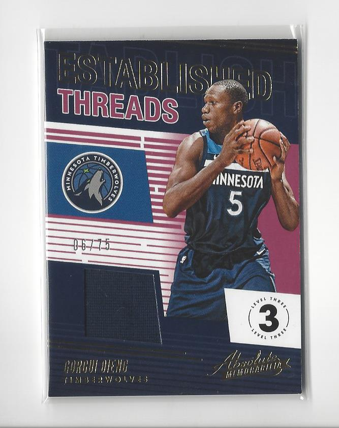 2018-19 Absolute Memorabilia Established Threads Level 3 #13 Gorgui Dieng/75