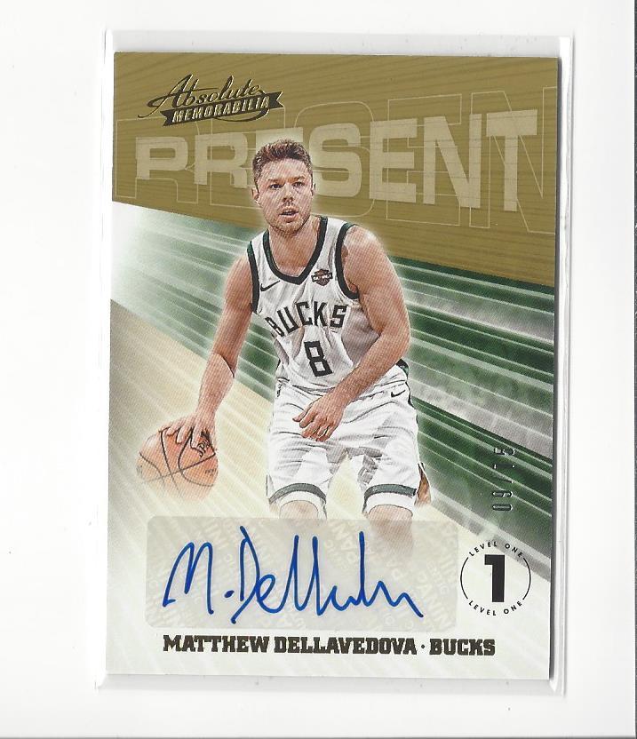 31af5e0a91b 2018-19 Absolute Present Matthew Dellavedova AUTOGRAPH Bucks /75   eBay