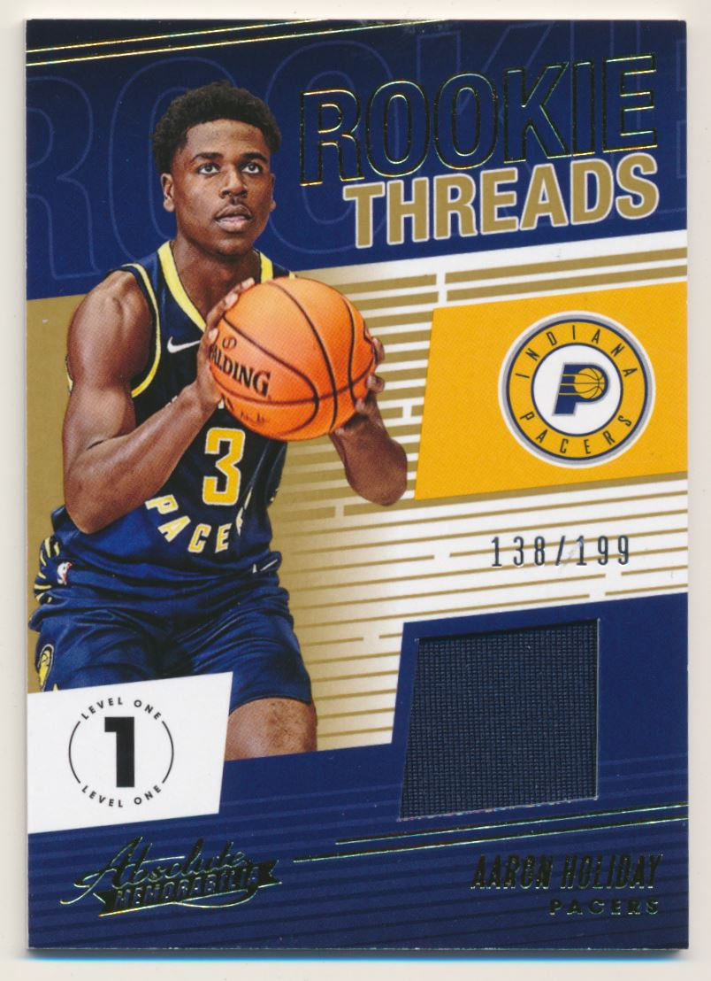 2018-19 Absolute Memorabilia Rookie Threads #23 Aaron Holiday