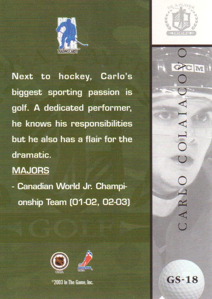 2002-03-BAP-Signature-Series-Golf-Hockey-Cards-Pick-From-List miniature 3