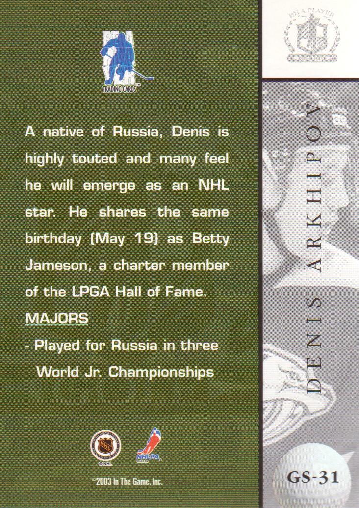 2002-03-BAP-Signature-Series-Golf-Hockey-Cards-Pick-From-List miniature 7