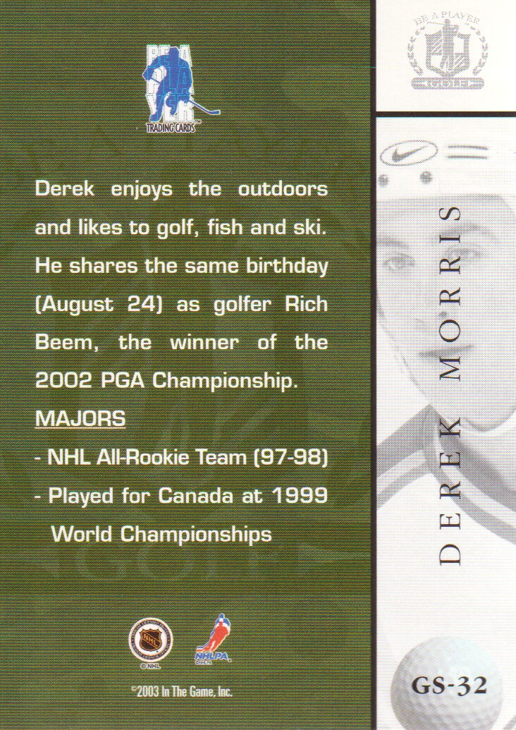 2002-03-BAP-Signature-Series-Golf-Hockey-Cards-Pick-From-List miniature 9