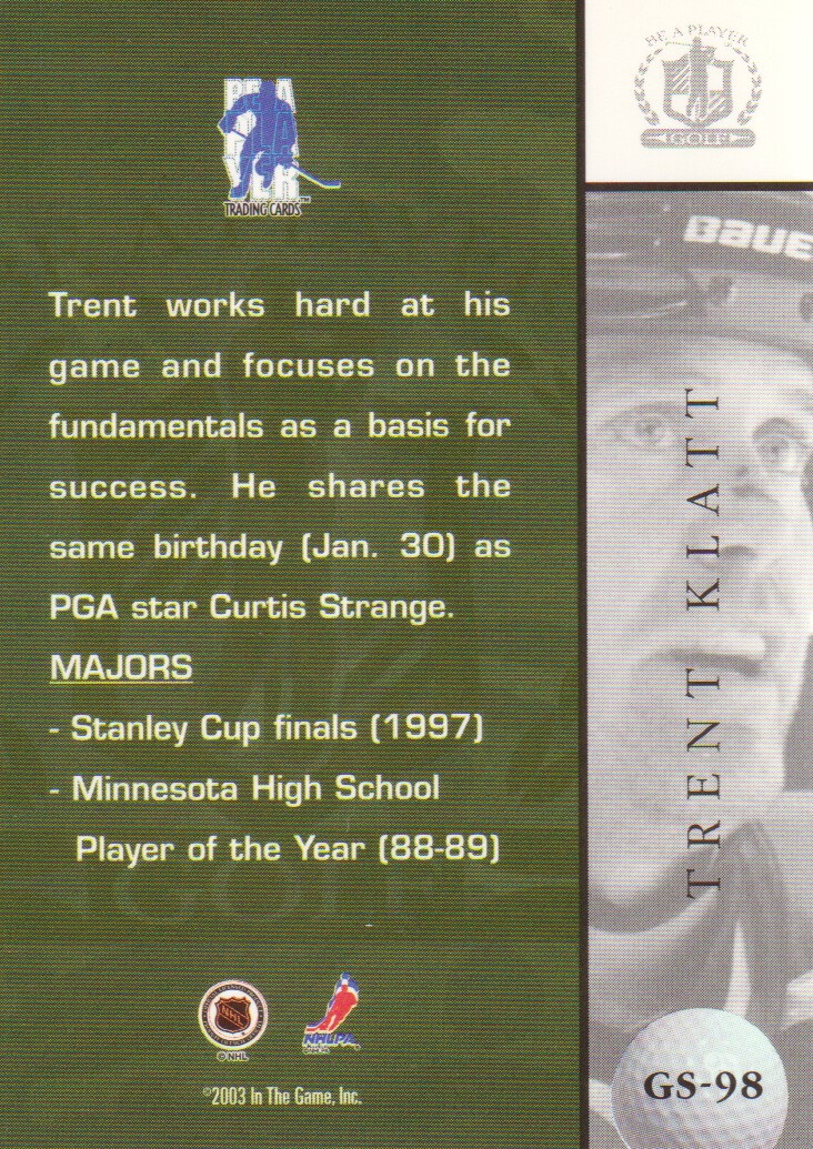 2002-03-BAP-Signature-Series-Golf-Hockey-Cards-Pick-From-List miniature 19
