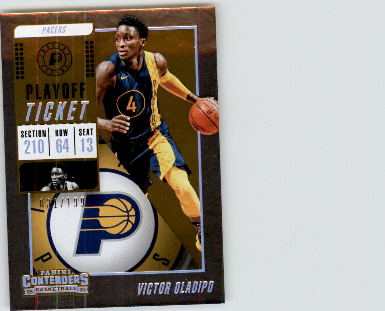 2018-19 Panini Contenders Playoff Ticket #58 Victor Oladipo
