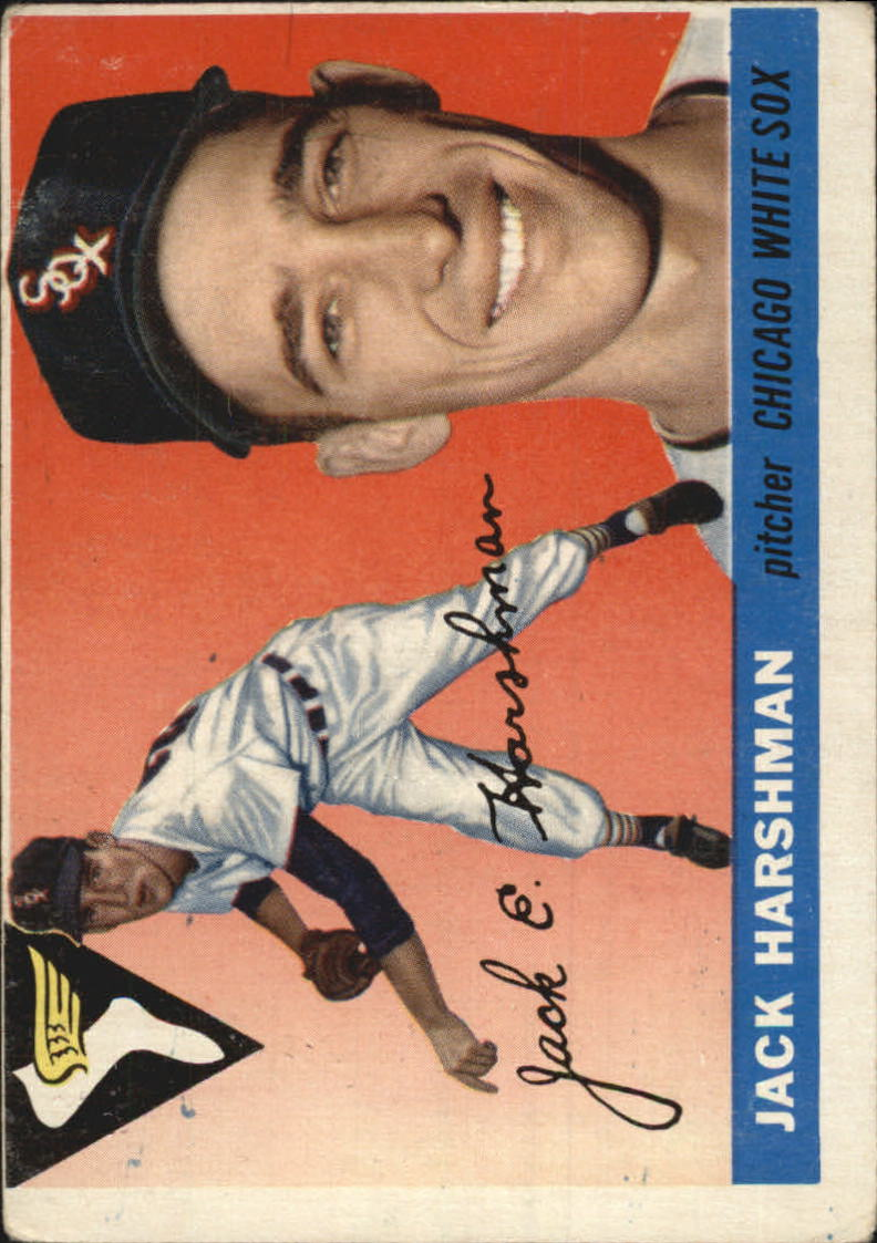 1955 Topps # 104 Jack Harshman   G/VG    Chicago White Sox A10987*