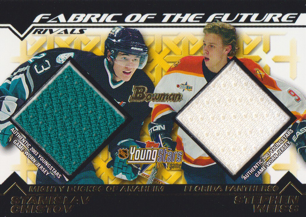 2002-03 Bowman YoungStars Rivals #SCSW Stanislav Chistov/Stephen Weiss