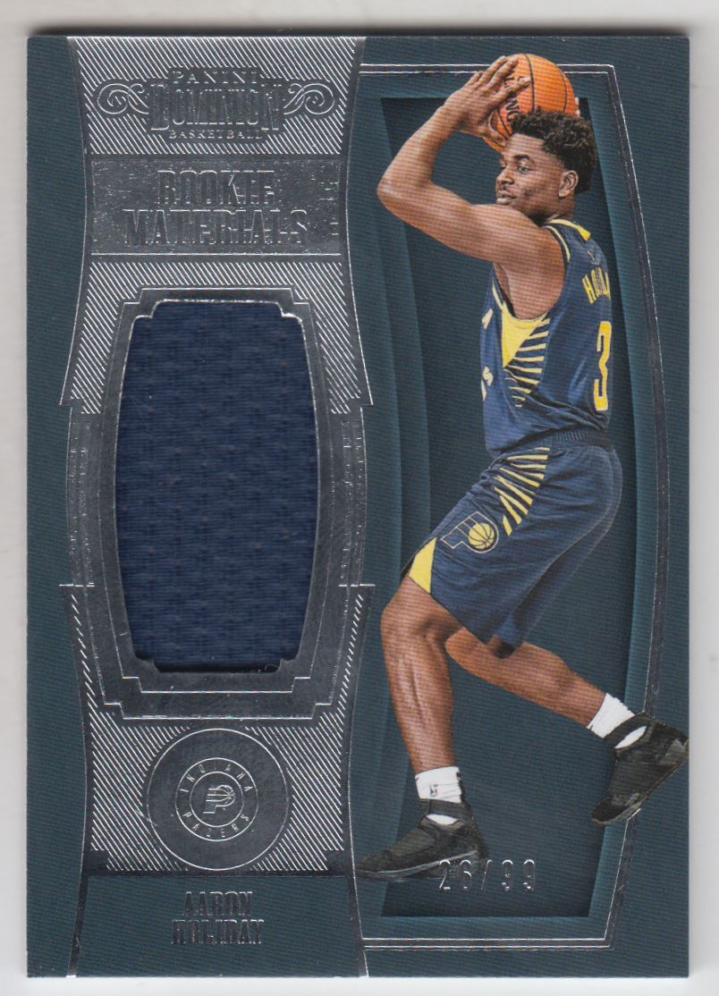 2018-19 Panini Dominion Rookie Materials #35 Aaron Holiday