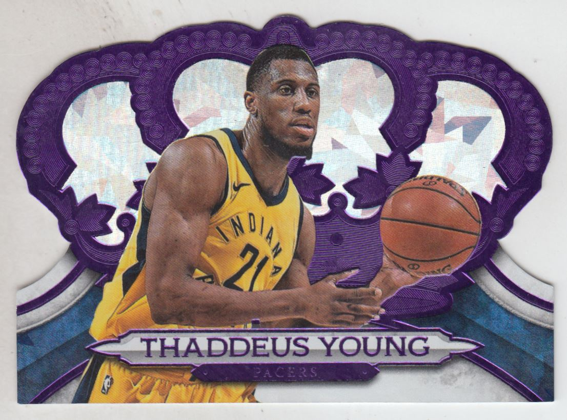 2018-19 Crown Royale Crystal Purple #190 Thaddeus Young