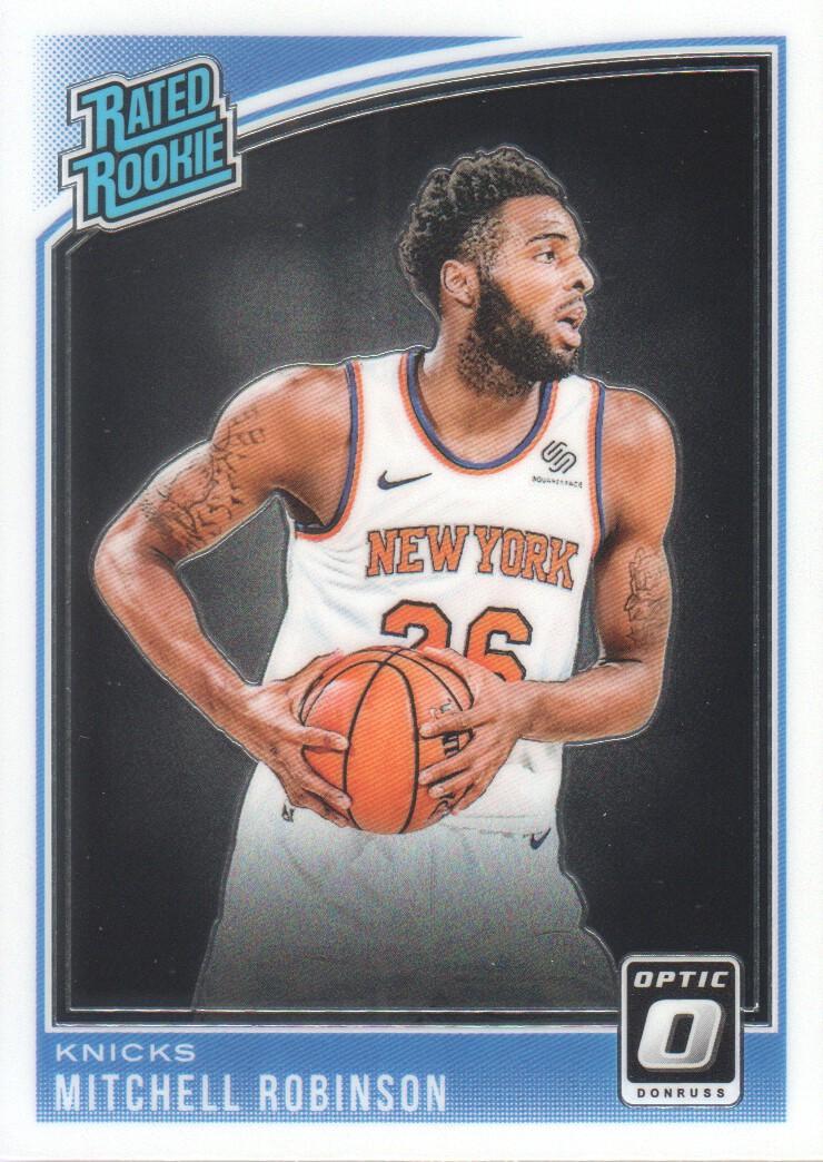 f22c64a08805 2018-19 Donruss Optic  163 Mitchell Robinson RR RC New York Knicks ...