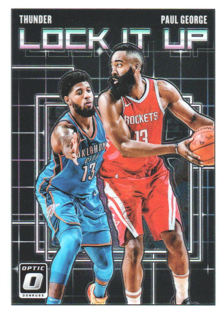 59b27520cec09 Details about 2018-19 Donruss Optic Basketball Lock it Up #6 Paul George  Oklahoma City Thunder