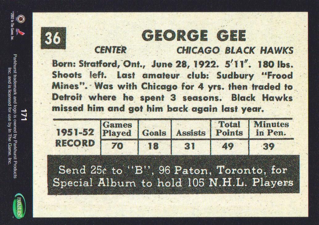 2002-03-Parkhurst-Reprints-Hockey-Cards-Pick-From-List thumbnail 3