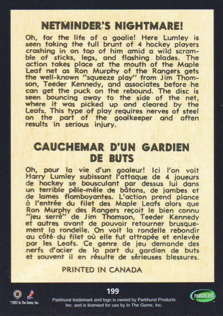 2002-03-Parkhurst-Reprints-Hockey-Cards-Pick-From-List thumbnail 5