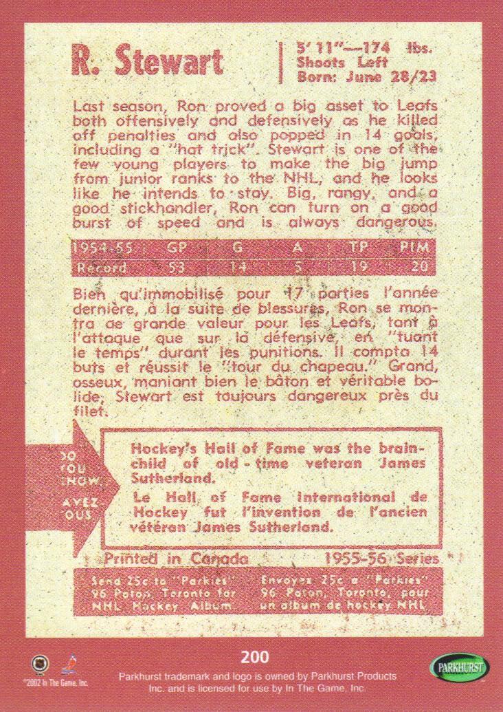2002-03-Parkhurst-Reprints-Hockey-Cards-Pick-From-List thumbnail 7