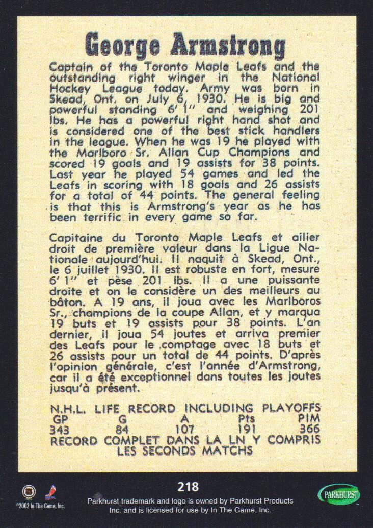 2002-03-Parkhurst-Reprints-Hockey-Cards-Pick-From-List thumbnail 9
