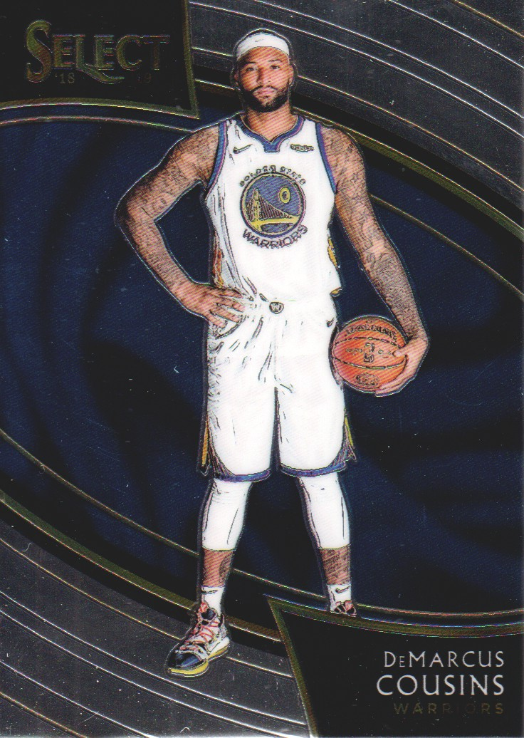 new concept a6faa f4df1 Details about 2018-19 Select Basketball #278 DeMarcus Cousins Golden State  Warriors