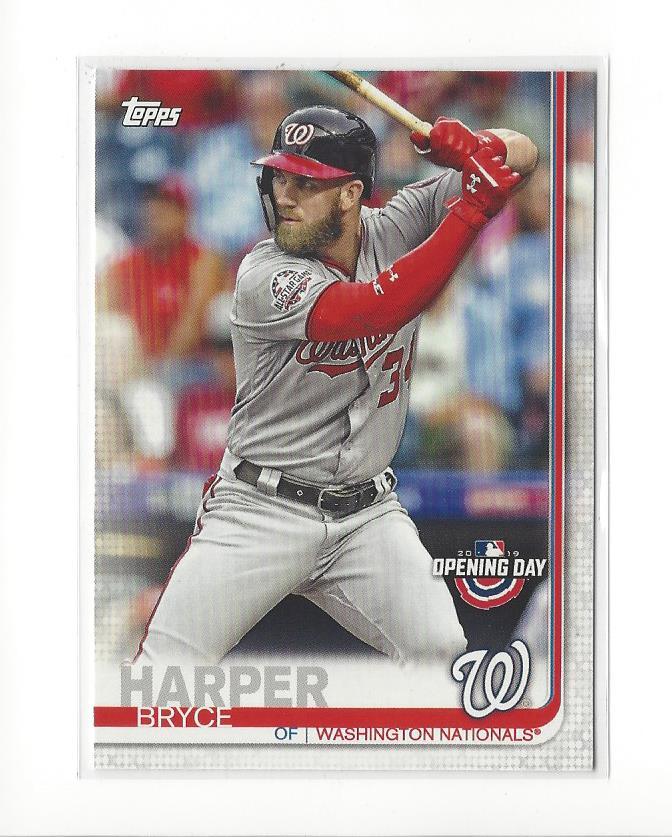 2019 Topps Opening Day #22 Bryce Harper Washington Nationals Baseball Card