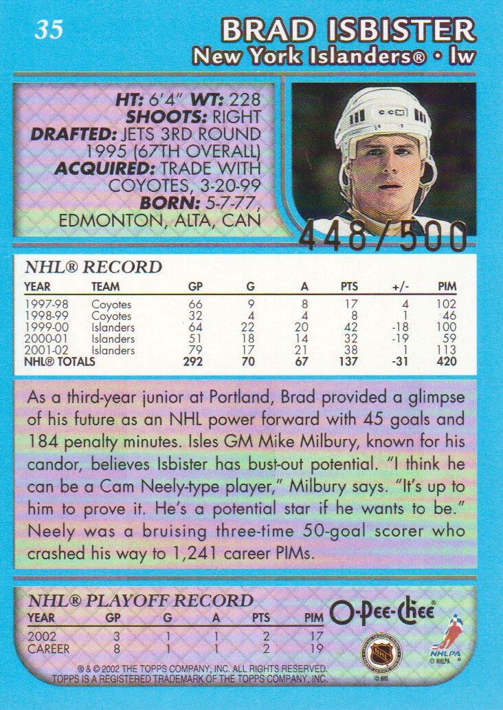 2002-03-O-Pee-Chee-OPC-Blue-Parallel-Hockey-Cards-Pick-From-List thumbnail 3