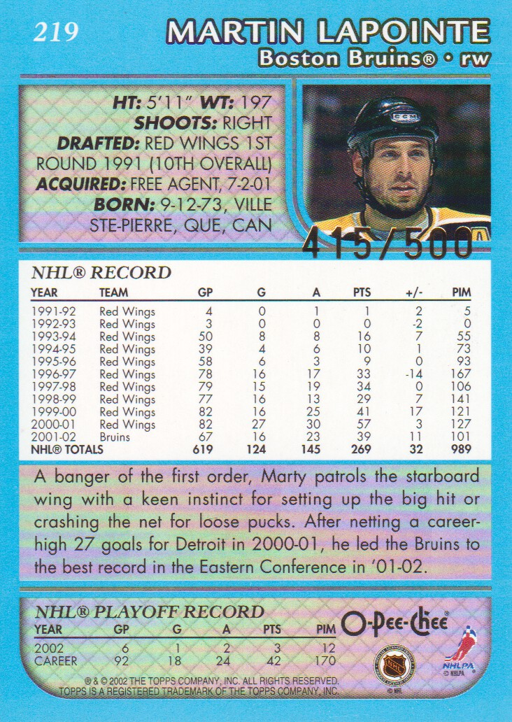 2002-03-O-Pee-Chee-OPC-Blue-Parallel-Hockey-Cards-Pick-From-List thumbnail 11