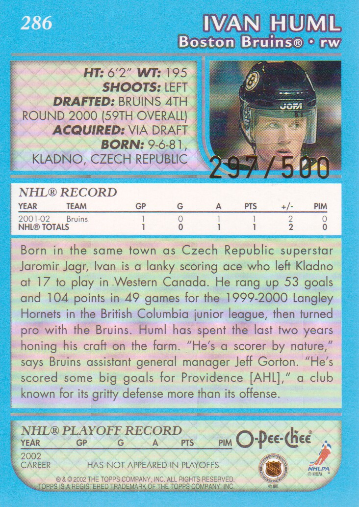 2002-03-O-Pee-Chee-OPC-Blue-Parallel-Hockey-Cards-Pick-From-List thumbnail 15