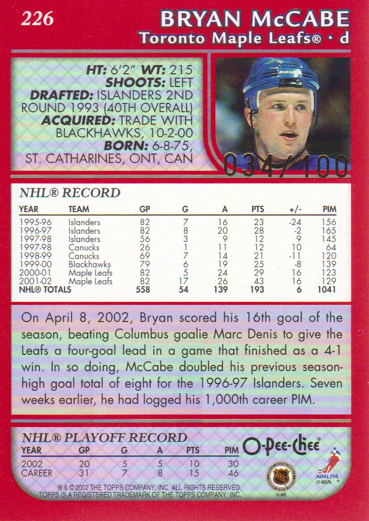2002-03-O-Pee-Chee-OPC-Red-Parallel-Hockey-Cards-Pick-From-List miniature 7