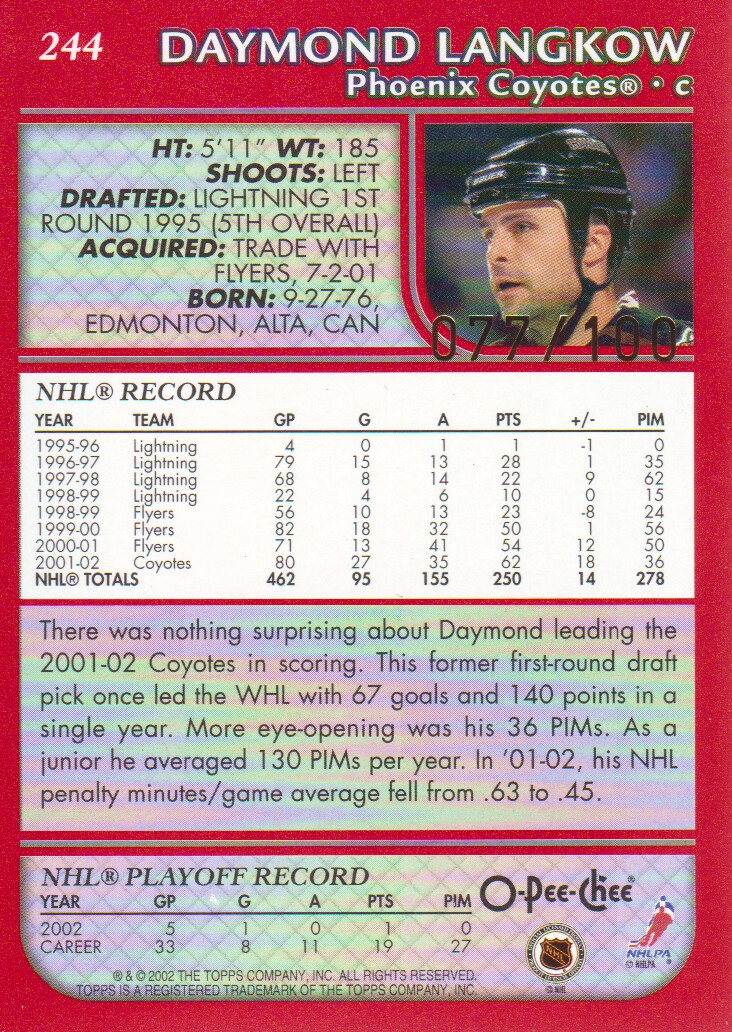 2002-03-O-Pee-Chee-OPC-Red-Parallel-Hockey-Cards-Pick-From-List miniature 9