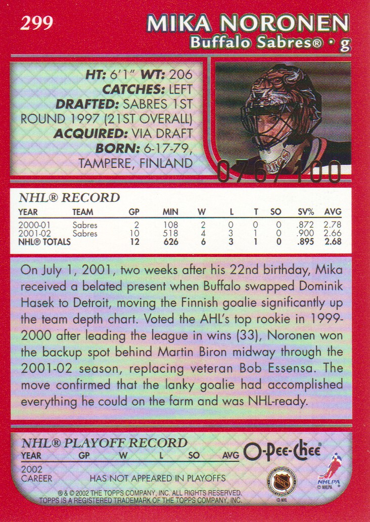2002-03-O-Pee-Chee-OPC-Red-Parallel-Hockey-Cards-Pick-From-List miniature 13