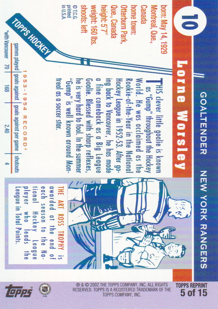 2002-03-Topps-Rookie-Reprint-Hockey-Cards-Pick-From-List miniature 3